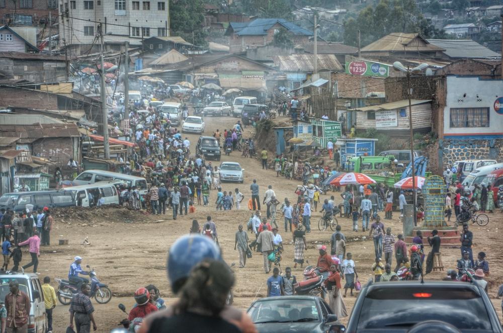 Rush hour main street Bukavu
