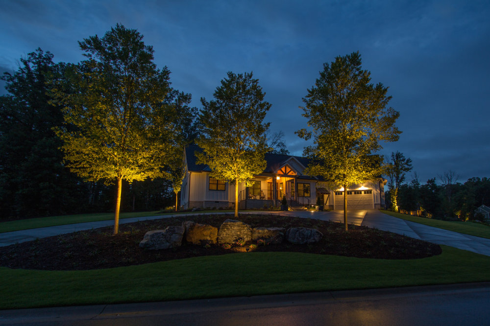 Night Landscape Design and Install Services Greer SC