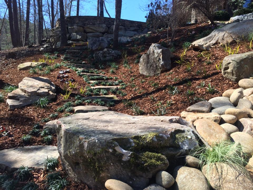 Rock Features and Rock pathway - Landart Landscapes