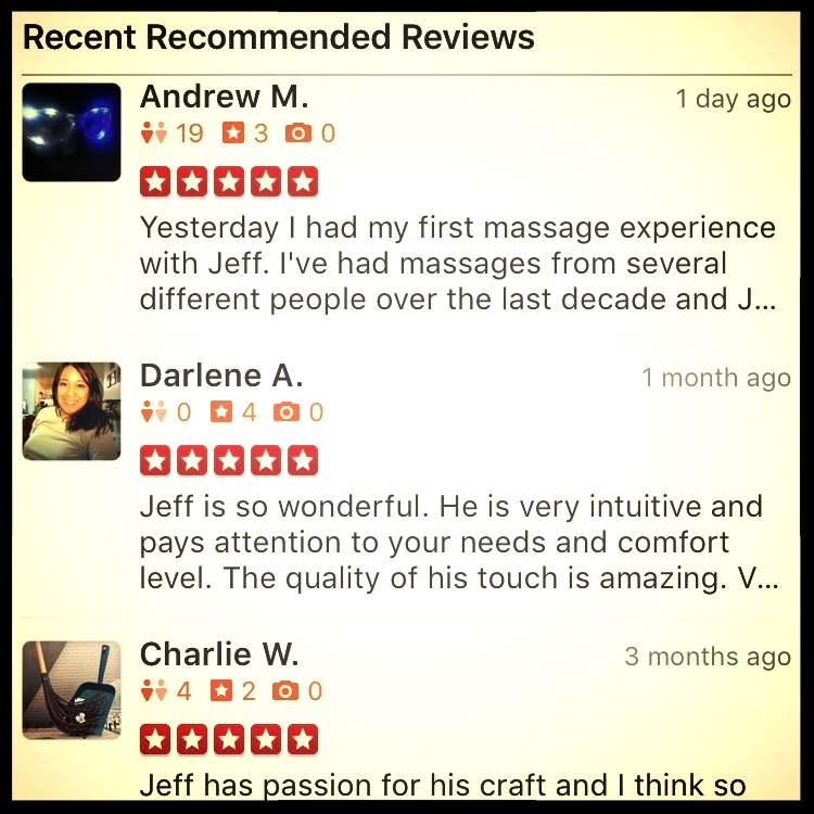 Gratitude for 3 new 5-star reviews on Yelp!  I am lucky to say I have the best clients. Share your 2 cents at theboldmassage.com/write-a-review, refer a friend at theboldmassage.com/refer, and then schedule your next 5-star massage at theboldmassage.com/book-now.