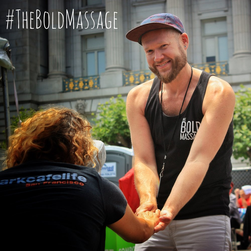 Jeff donated complimentary therapeutic chair massage to our emcee queens, entertainers, speakers, VIPs, and event staff at San Francisco Pride's mainstage last weekend! #TheBoldMassage #SFPride #SummerofLove #Resist