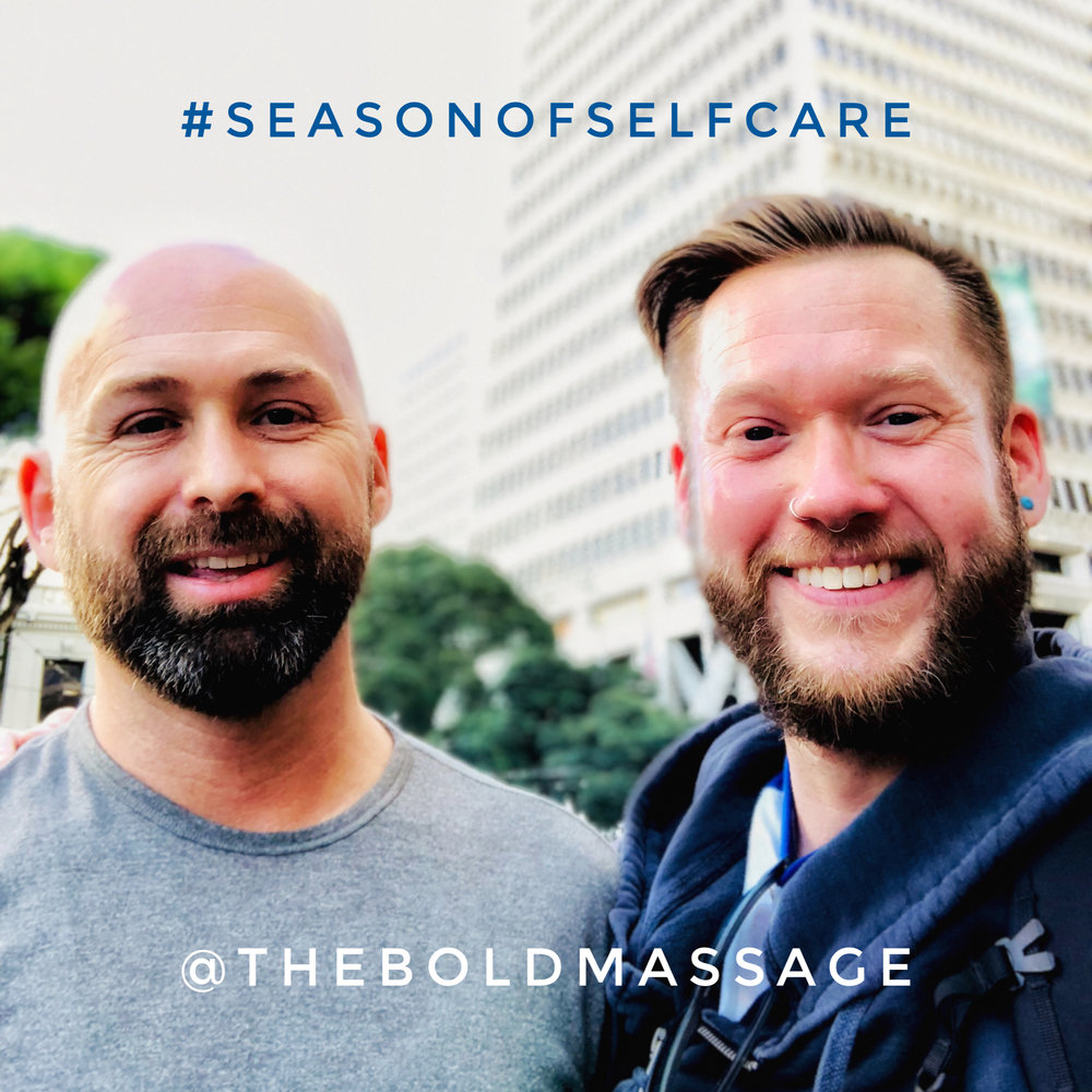 Brandon and Jeff at Integrity Skin Care, Financial District, San Francisco, California  #TheBoldMassage #SeasonOfSelfCare #PayItForward #TheBoldCommunity #IntegritySkin #360Skin #DeepRenewal