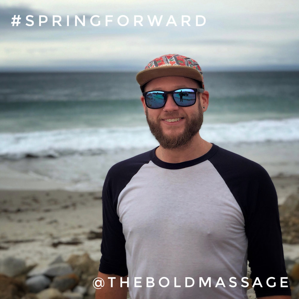Spring forward and start your annual  membership  today!   Jeff turns 40 at Pebble Beach, Monterey County, California  #TheBoldMassage #SpringForward #Memberships