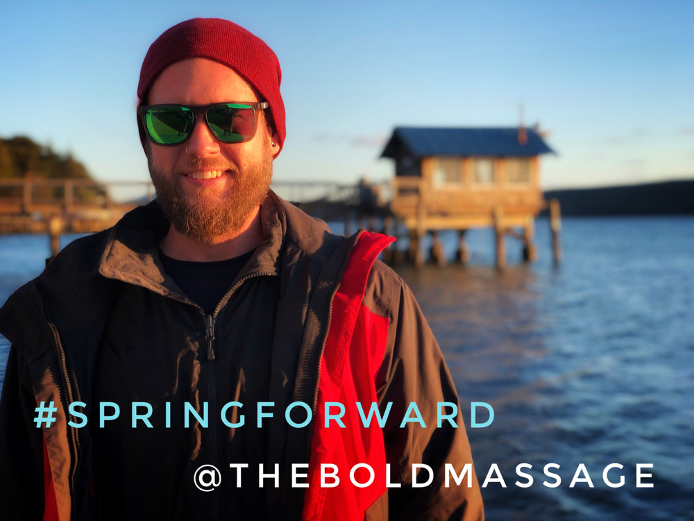 Spring forward and start your annual  membership  today! Couple's save an additional 5% when they join together!   Jeff turns 40 at Nick's Cove, Tomales Bay, Marin County, California  #TheBoldMassage #SpringForward #Memberships