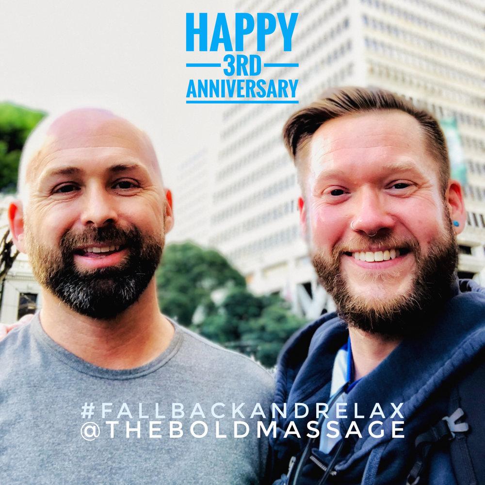 Brandon and Jeff at Integrity Skin, Financial District, San Francisco, California   #TheBoldMassage #FallBackAndRelax #HappyAnniversary #Celebrate #TheBoldCommunity #IntegritySkin #360Skin #DeepRenewal