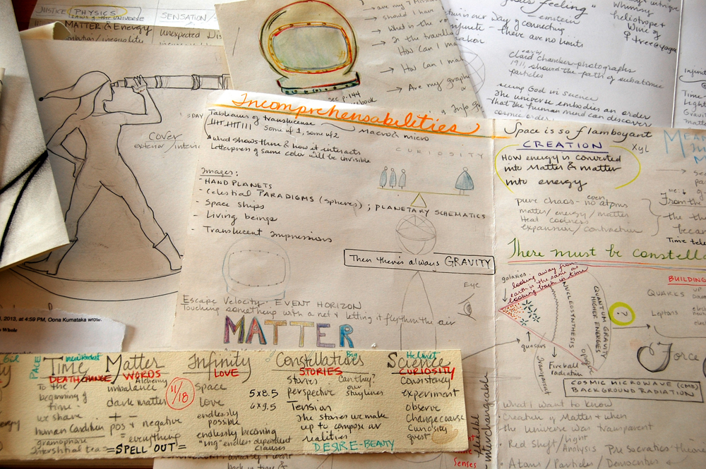 Notes and sketches from making Matter