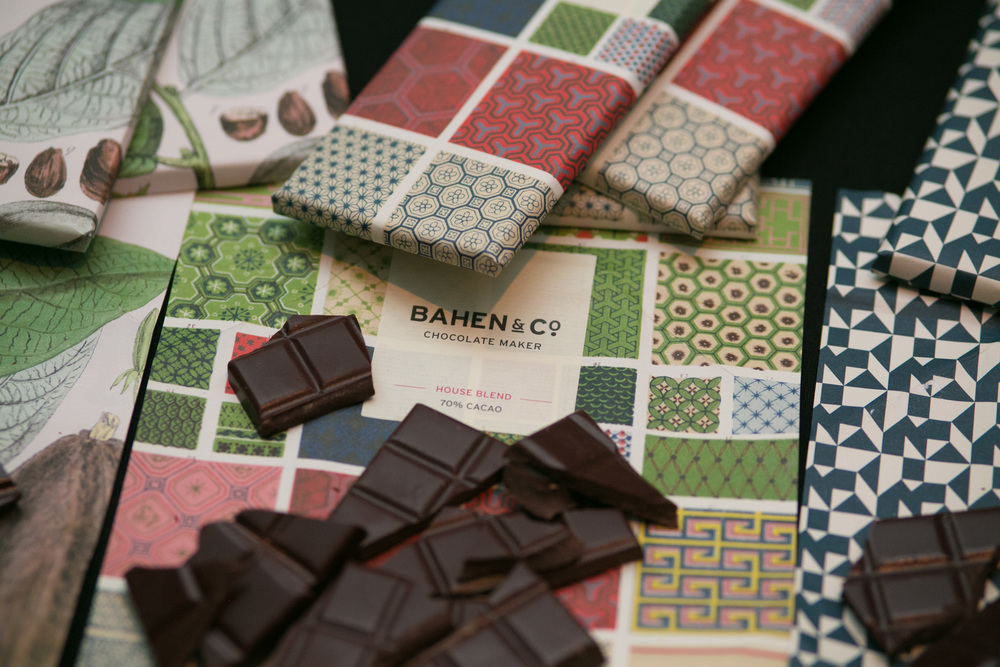 Bahen & Co chocolate (a company that pays farmers direct exceeding fair trade standards)