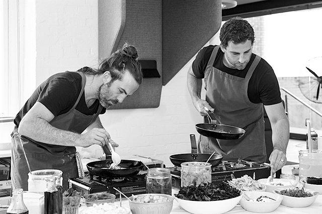Dan and Tim 🙌 taking our food to another level at this onsite breakfast fiesta. Yes we care deeply about the environment, and providing exceptional service from start to finish, but if you boil it all back, making deliciously bold food that rocks your radishes is why we started 7 years ago and why we're still here. Happy eating food lovers 🍽💜
