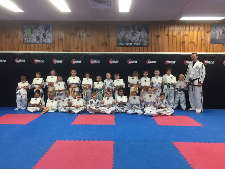 Our Little Ninjas are all smiles after their grading. Well done team!