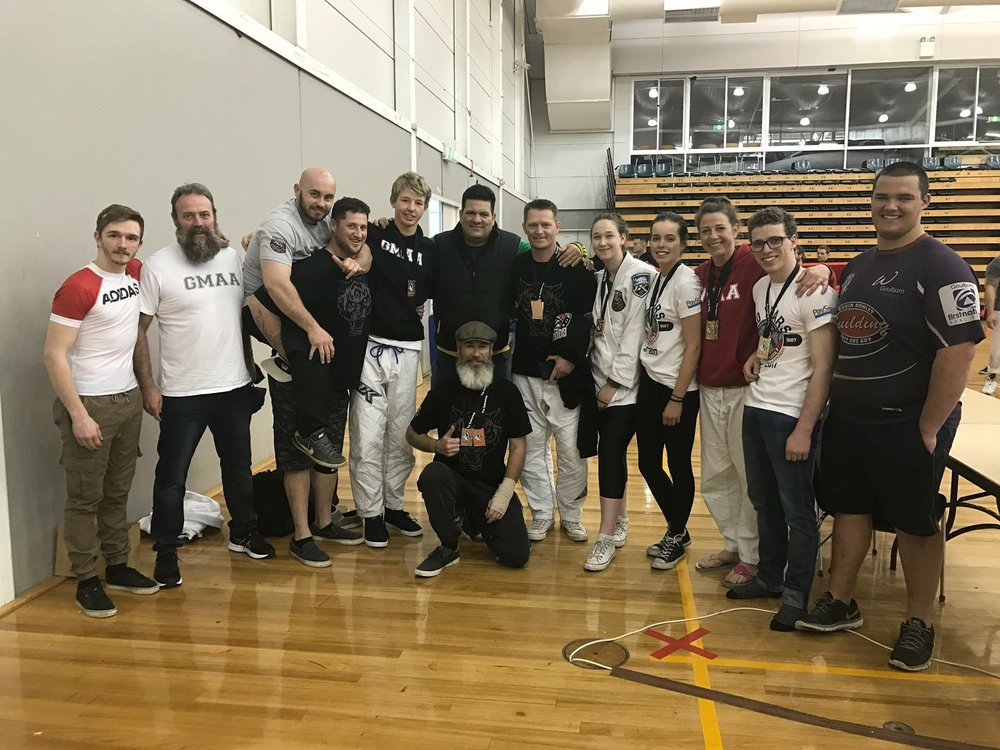 The team with Master Rigan Machado
