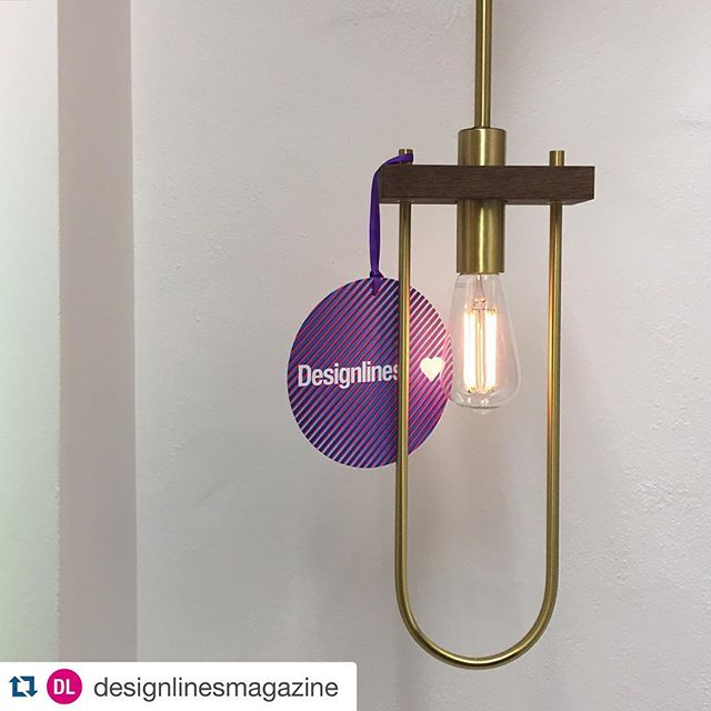 #Repost @designlinesmagazine with @repostapp. ・・・ #DLloves this elegant brass and walnut light, designed by @coolicanandcompany and produced in collaboration with Turn of the Century Lighting @toclighting Nice proportions and mix of materials - feels both contemporary and timeless. Struck by the quiet negative space the metallic loop frame creates around the pendant's dimmable LED bulb. Part of Primary, a collection of locally-manufactured designs being launched by @toronto_made at @madedesign. #TODO16 #design #PRIMARY
