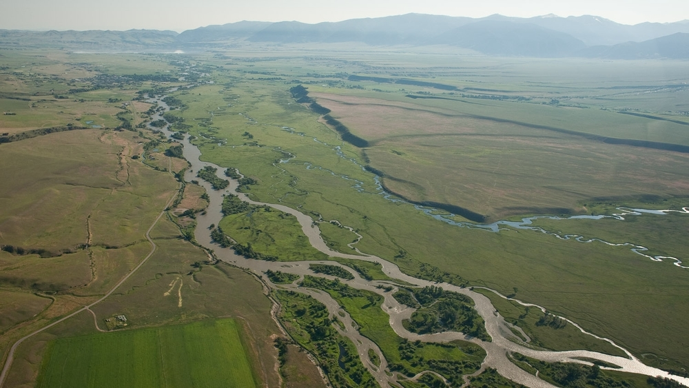 Aerial view of Madison Valley