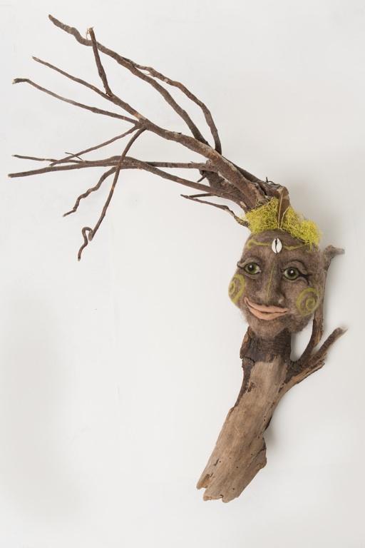 Spiral Lichen Goddess Mask