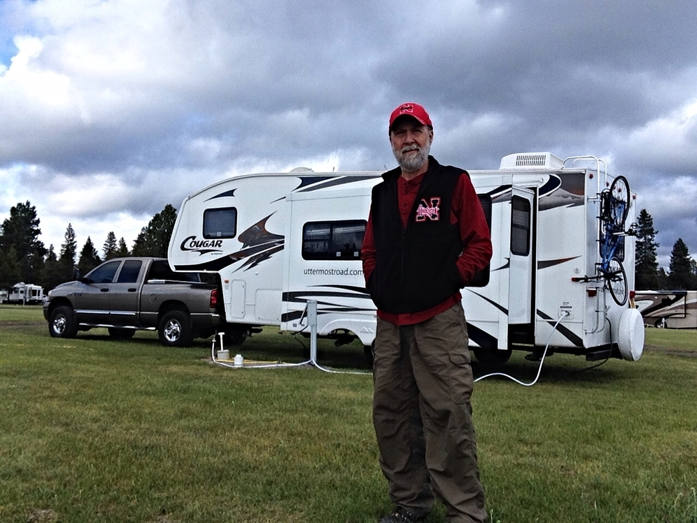 Camped at Casscade Meadows near LaPine, Oregon, and the Newberry Caldera.