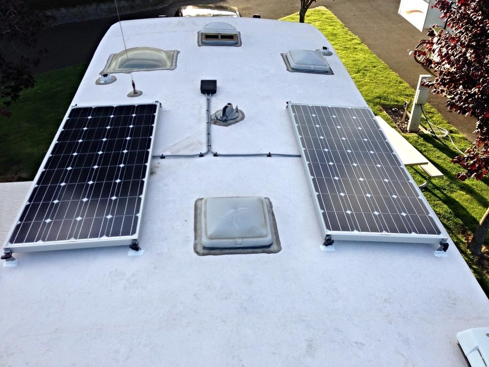 Two 160 solar panels