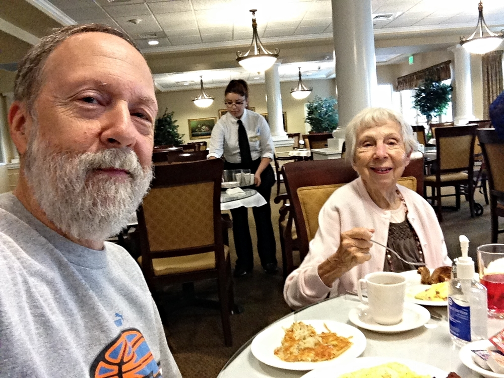Breakfast with my mom at Emerald Pointe Senior Living Community in Keizer, Oregon. We got her moved into her new apartment and I'm staying a few nights to check it out. I could adjust to a breakfast like this everyday!