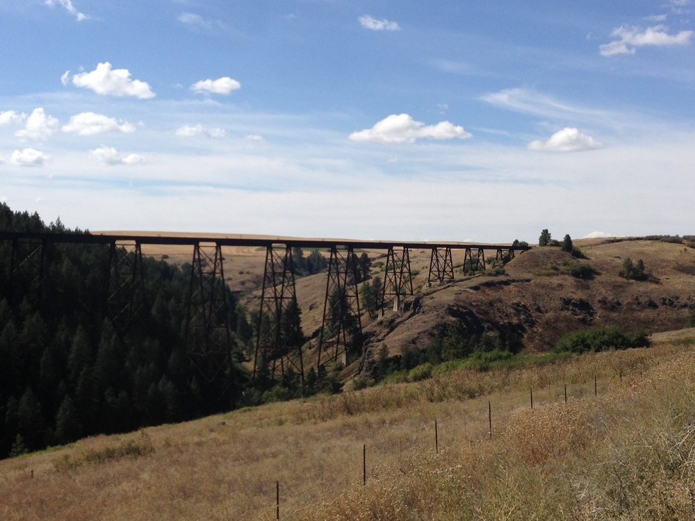 An old train tressle south of Lapwai, ID
