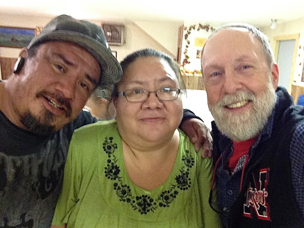 A reunion with Nile Poor Bear and his sister, Betsy, in Scottsbluff, Nebraska.