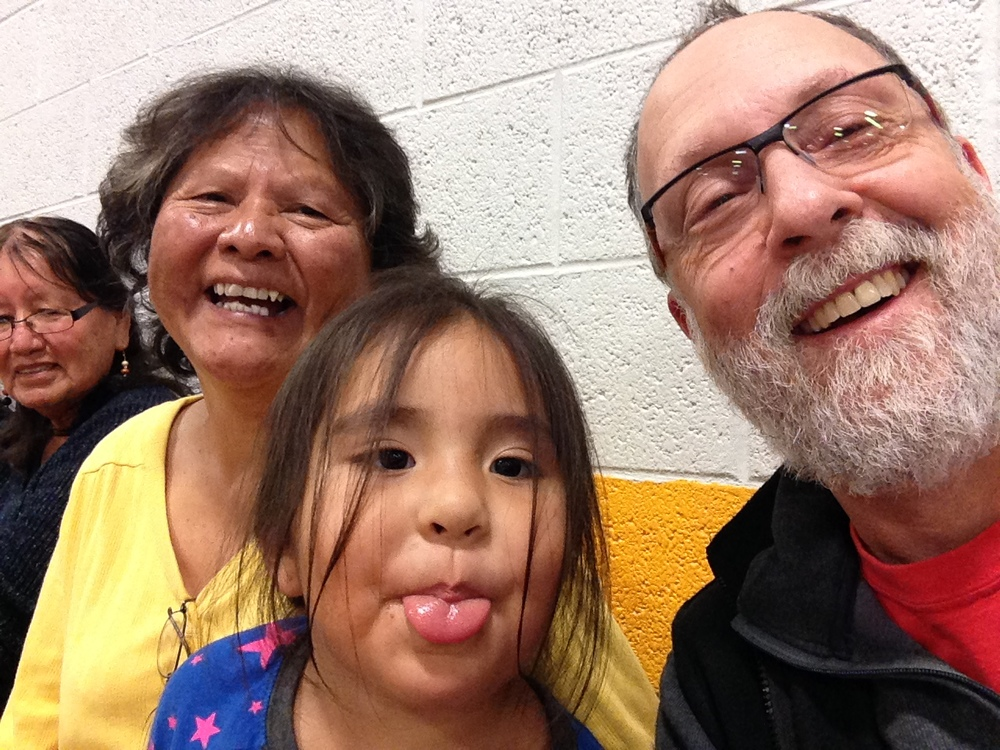 Watching HS basketball with Marlene and Naomi.