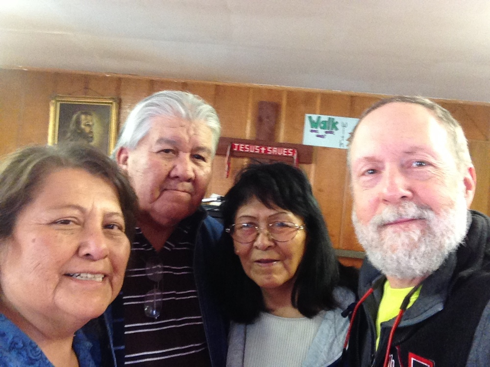 Maureen Woodman, Ronald Woodman and his wife, Effie, and yours truly.