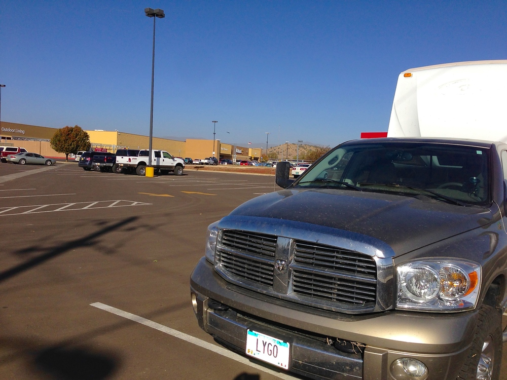 Las Vegas, New Mexico at Walmart parking lot (November 10-11)