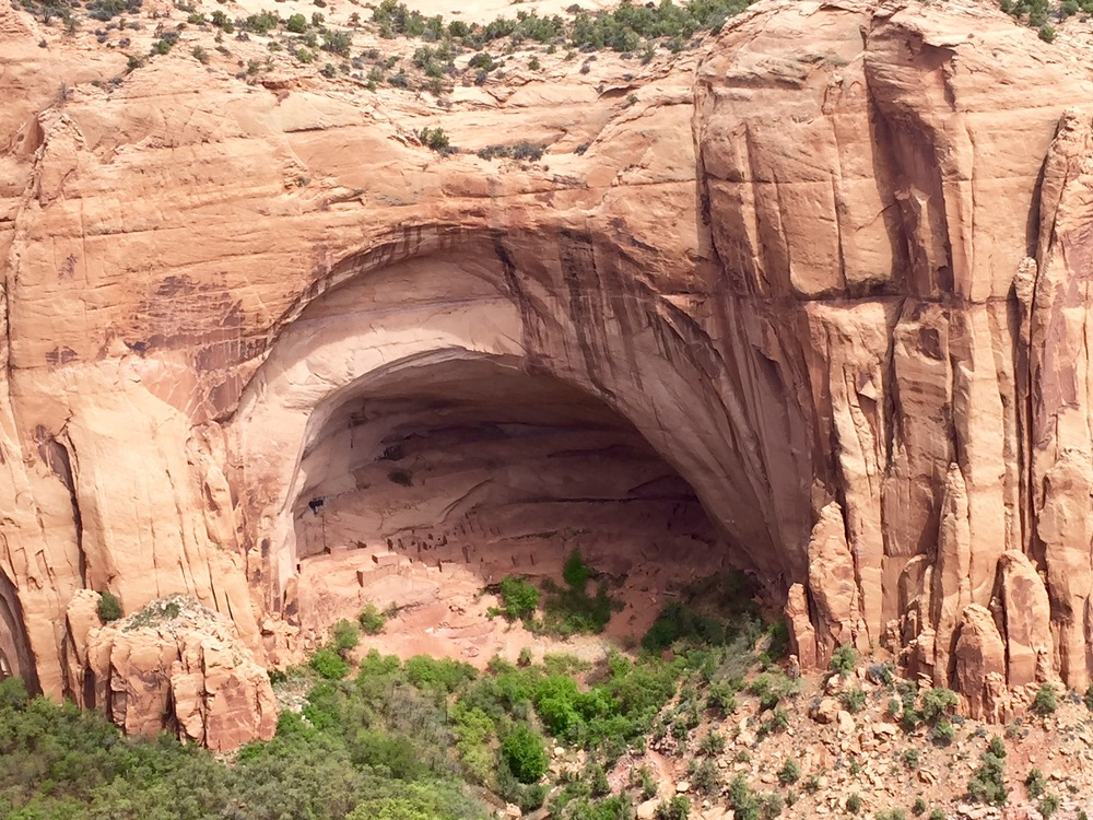 "Betatakin cliff dwellings which means ""House Built on a Ledge"" in Navajo"