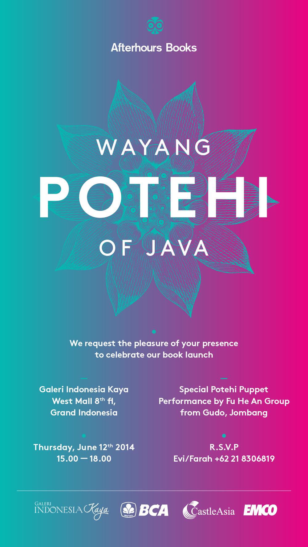 Wayang Potehi Of Java Book Launch Invitation Afterhours Books