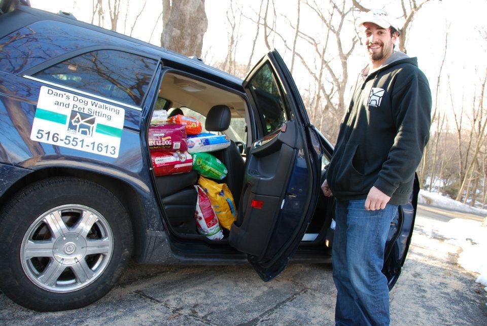 Daniel Reitman with Donations.jpg