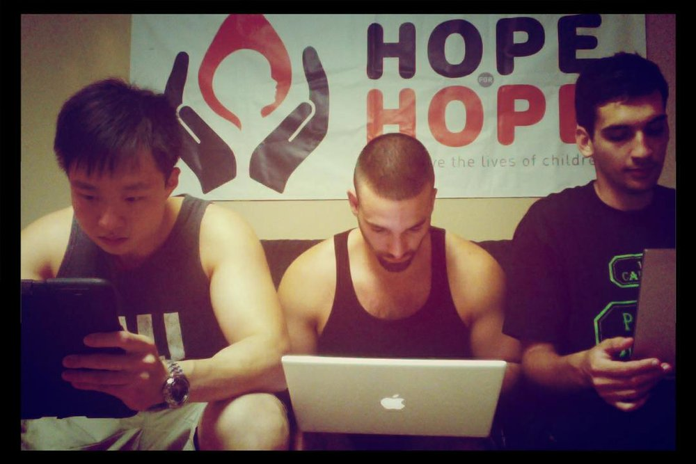 Chipeng Liang, Daniel Reitman and Nick Bratskier at Hope For Hope Meeting.jpg