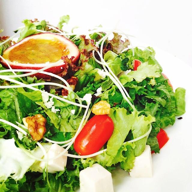 Passion fruit salad