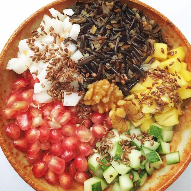 Wide rice & Pomegranate Salad