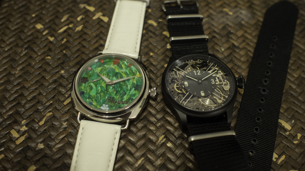 Jaq and Alysha eoniq custom watch
