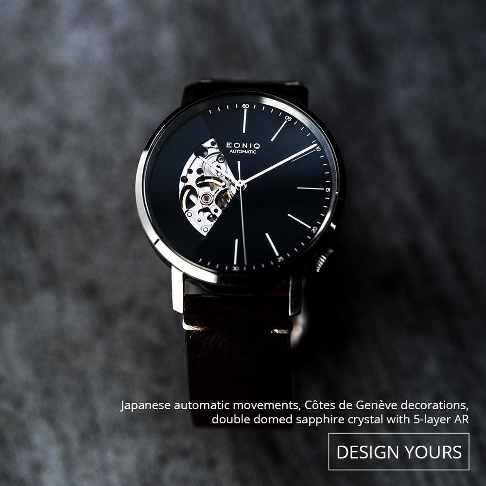 日本星辰8系鏤空機械機芯, 40 小時以上動力儲備、自動機芯、以 Côtes de Genève 方式裝飾