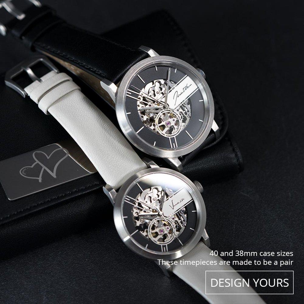腕錶可以分為42mm 及38mm, 讓它們記錄著我們愛情故事。