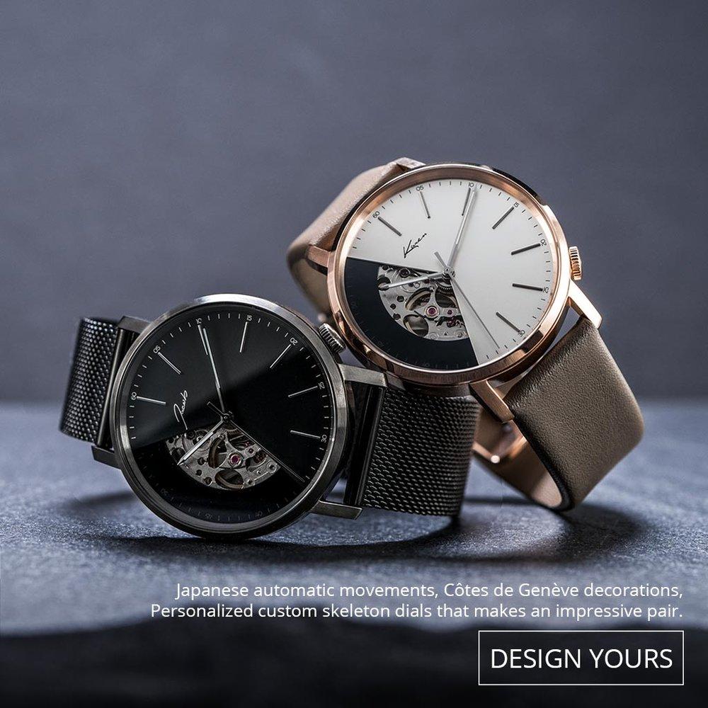 機械腕錶無需電池,而講求的是與用家的互動; 正如我倆的故事,是互相的,是經得起時間考驗的。
