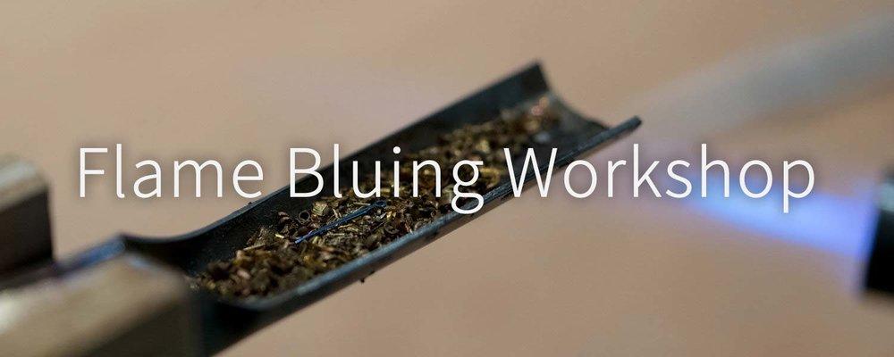 EONIQ watch hand flame bluing workshop