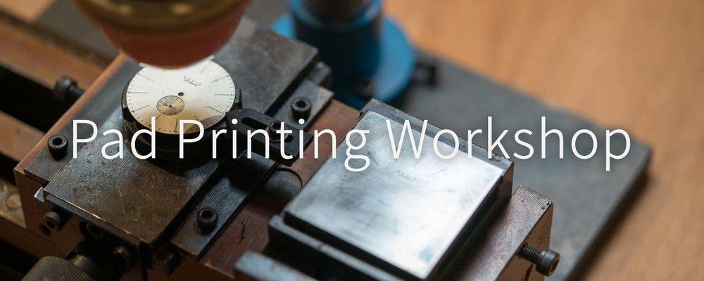 EONIQ watch dial pad printing workshop