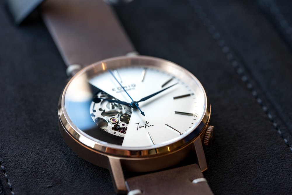 ALSTER Classic-S Pad Print Dial x Flame Bluing Workshop