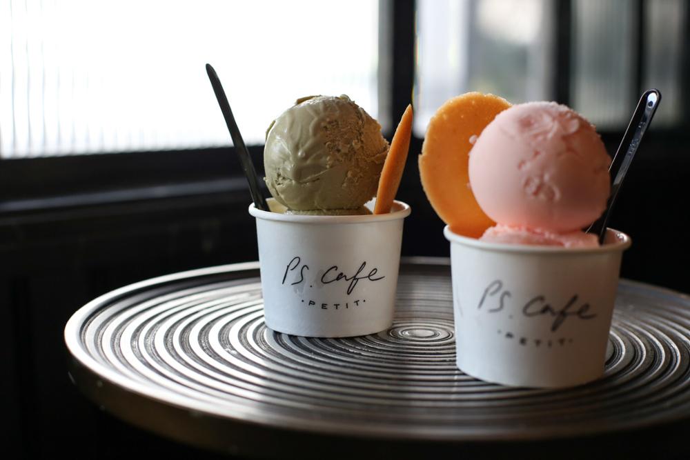 Pistachio & Bay Rose Ice Cream