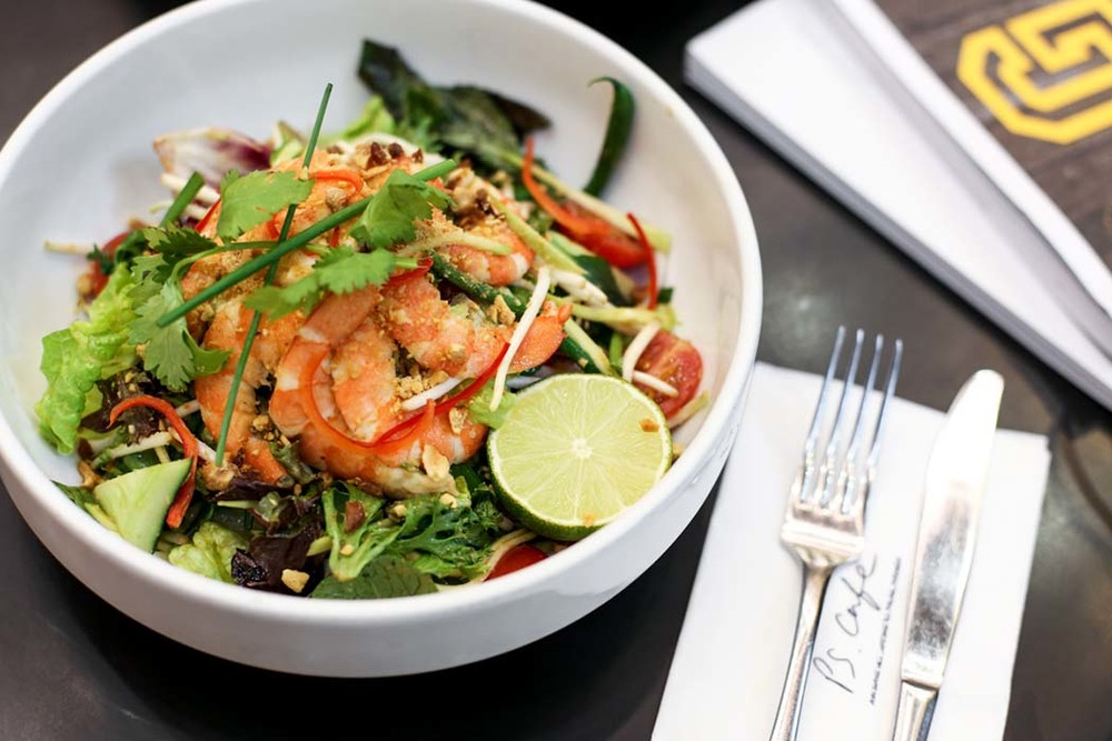 Salad Special : Pad Thai Salad with Poached Prawns