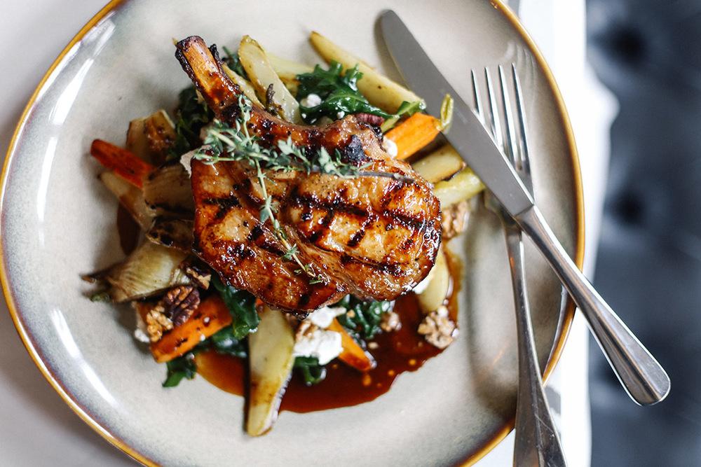 Charred Orange & Thyme Pork Chop