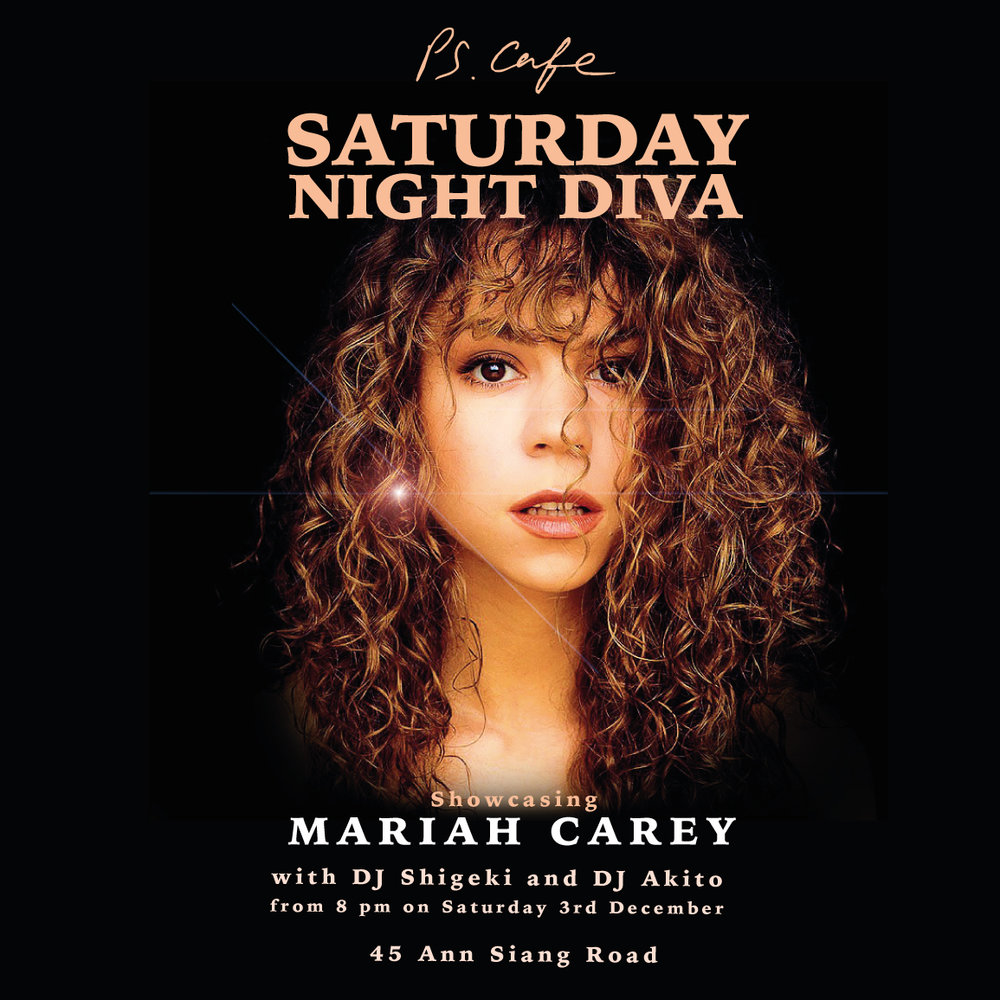 Don't miss out on our last Saturday Night Diva of 2016, showcasing Mariah Carey!    Event page   here!