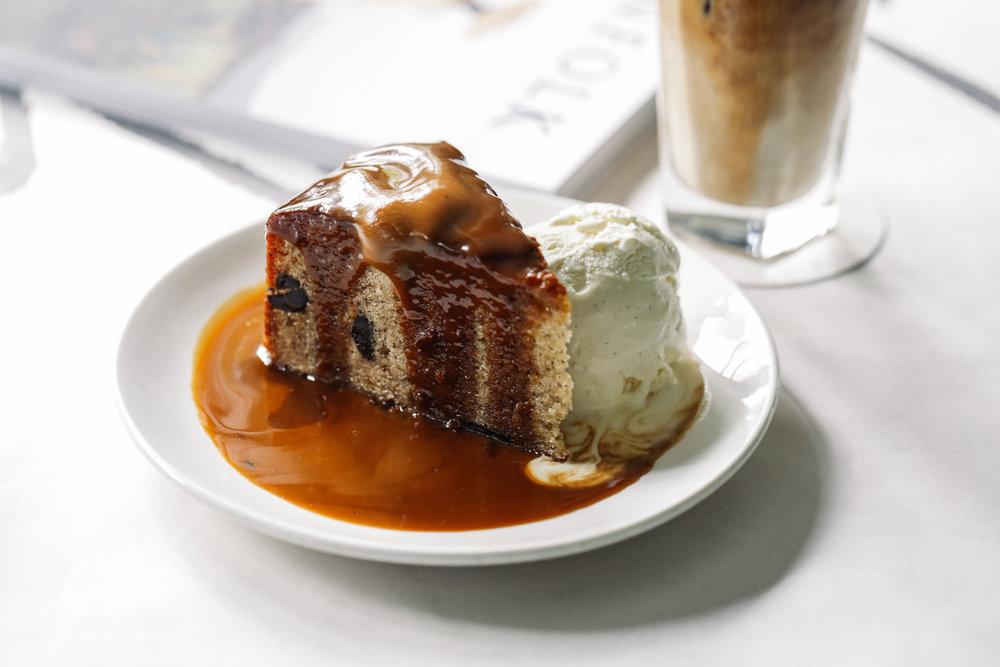 Golden Banana Butterscotch Cake