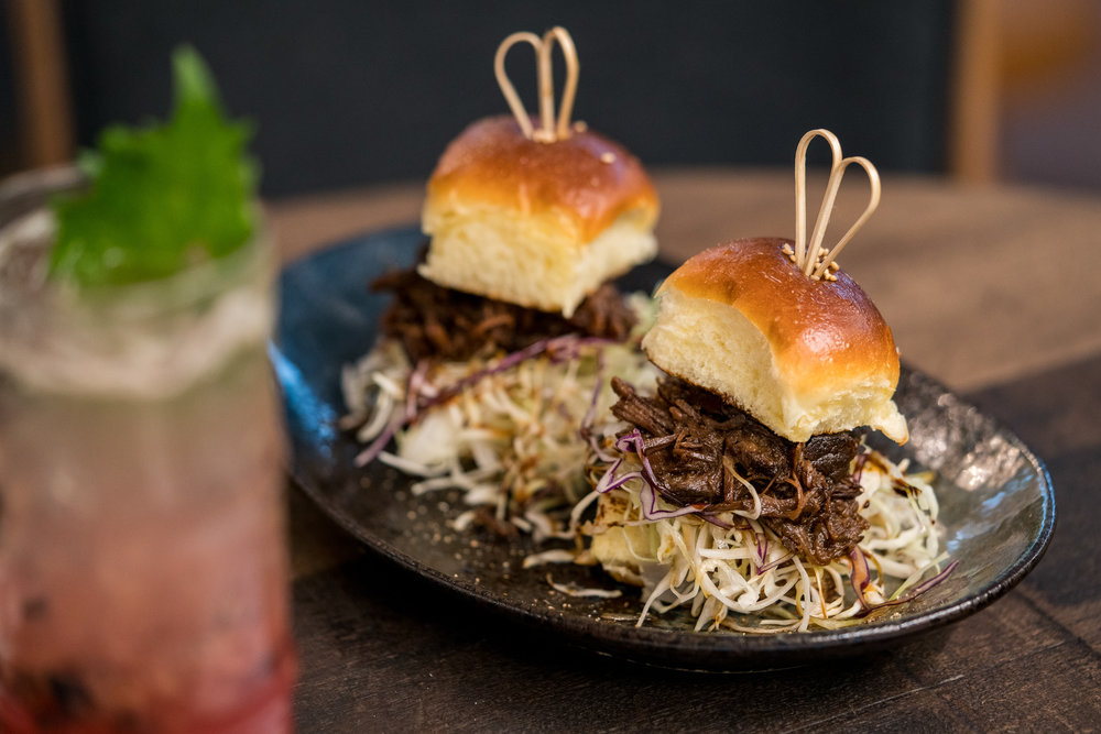 Obasan's Sticky Beef Sliders