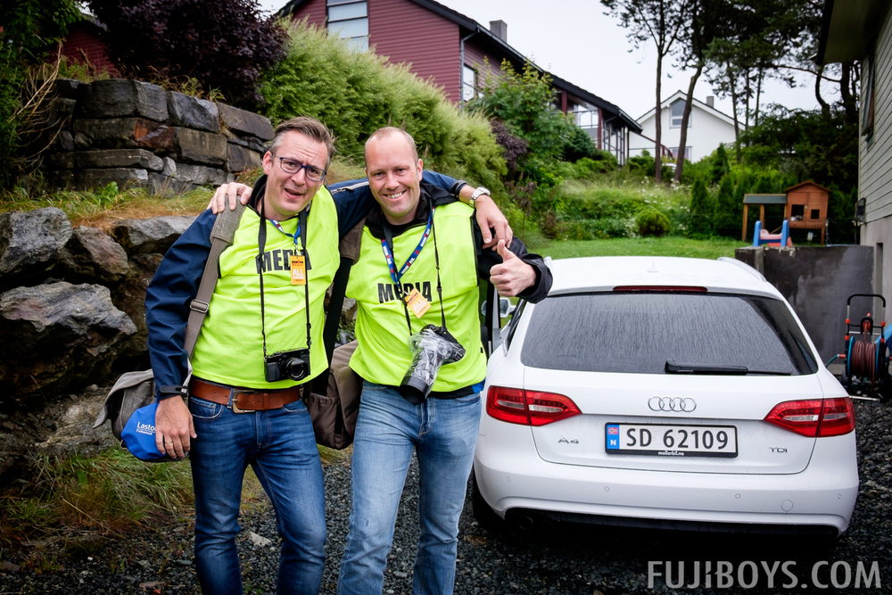 Tomin and Tor Martin ready to shoot Ironman Haugesund 70.3 2014
