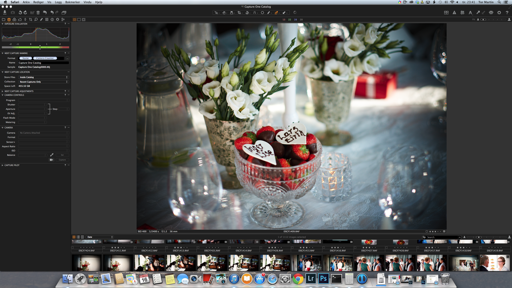 Screenshot of Capture One Pro 8