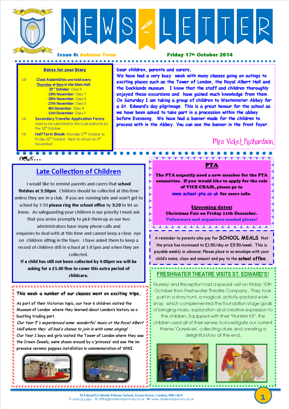 St Edward's Newsletter Issue 6 17 October 2014.png
