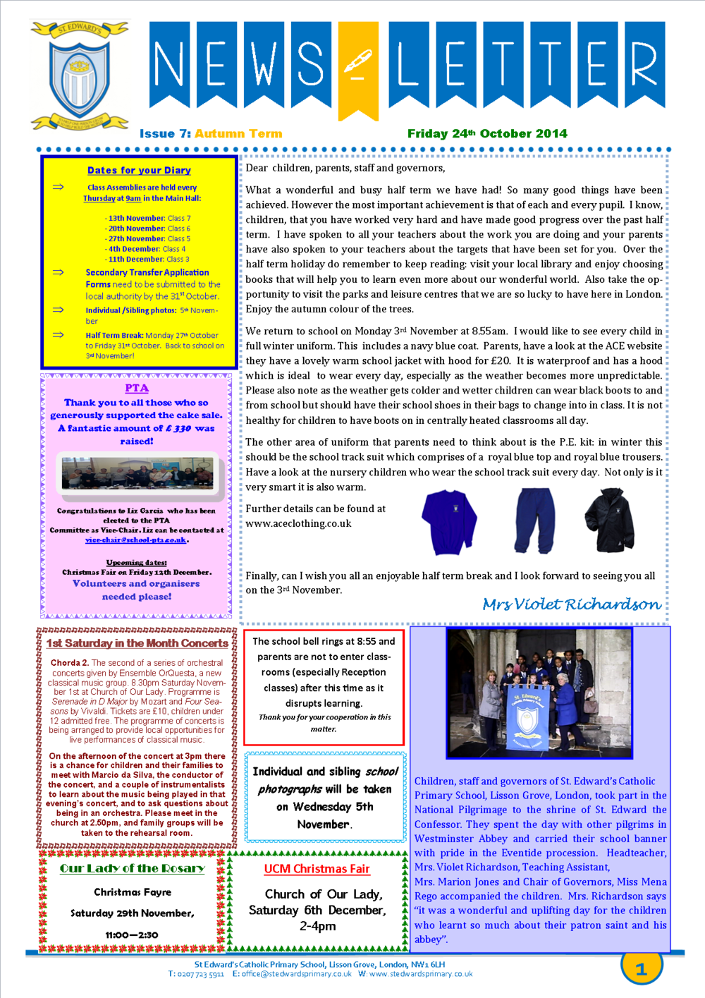 St Edward's Newsletter Issue 7 24 October 2014.png