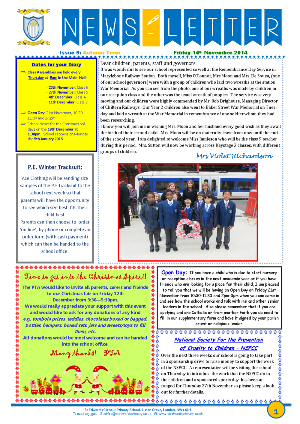 St Edward's Newsletter Issue 9 14 November 2014.png