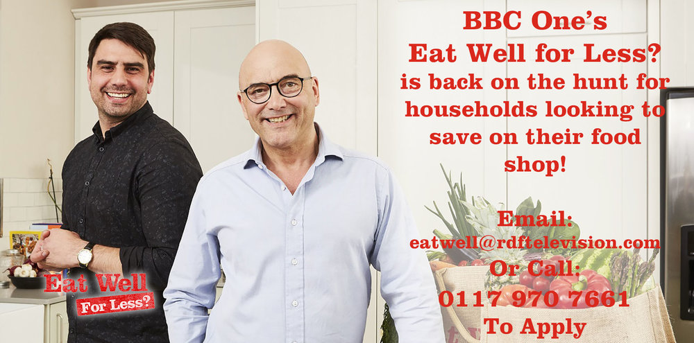 The BBC is inviting families to apply for the next series of Eat Well For Less?  If you are interested, please follow the instructions above on how to apply.